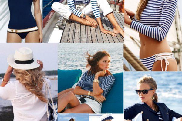 Пляжная одежда в морском стиле