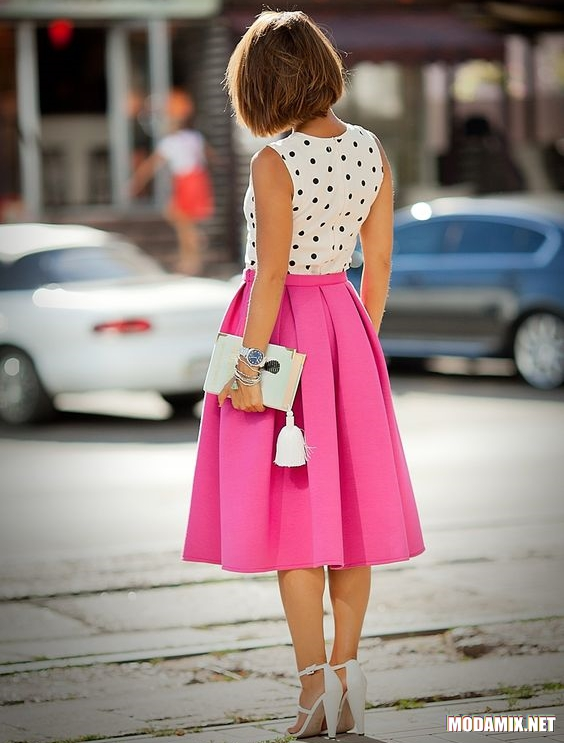 С чем носить юбку миди?