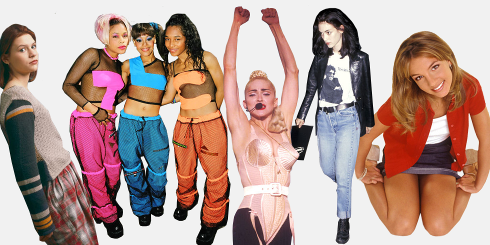 Стиль 90-х одежда
