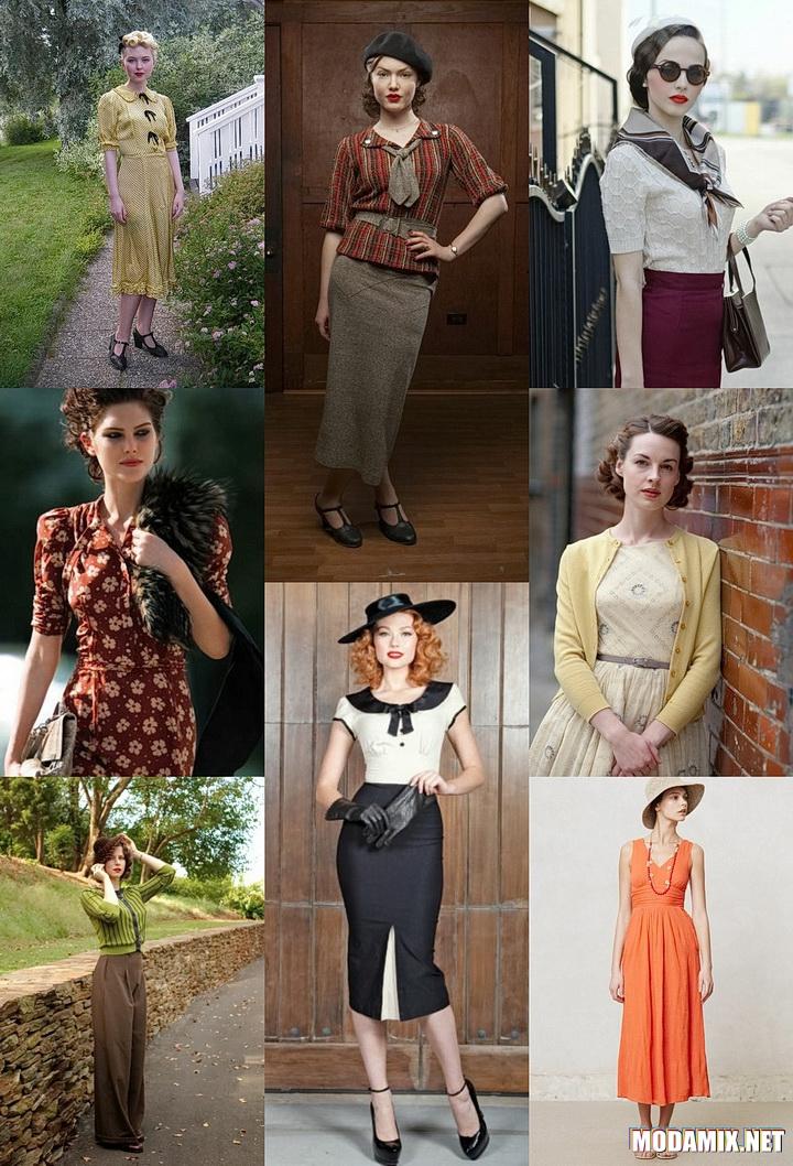Сдержанные линии в фасонах женской одежды 1930-х годов.