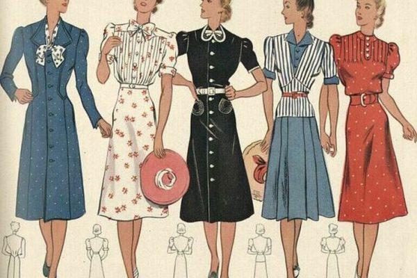 Платья 40-х годов