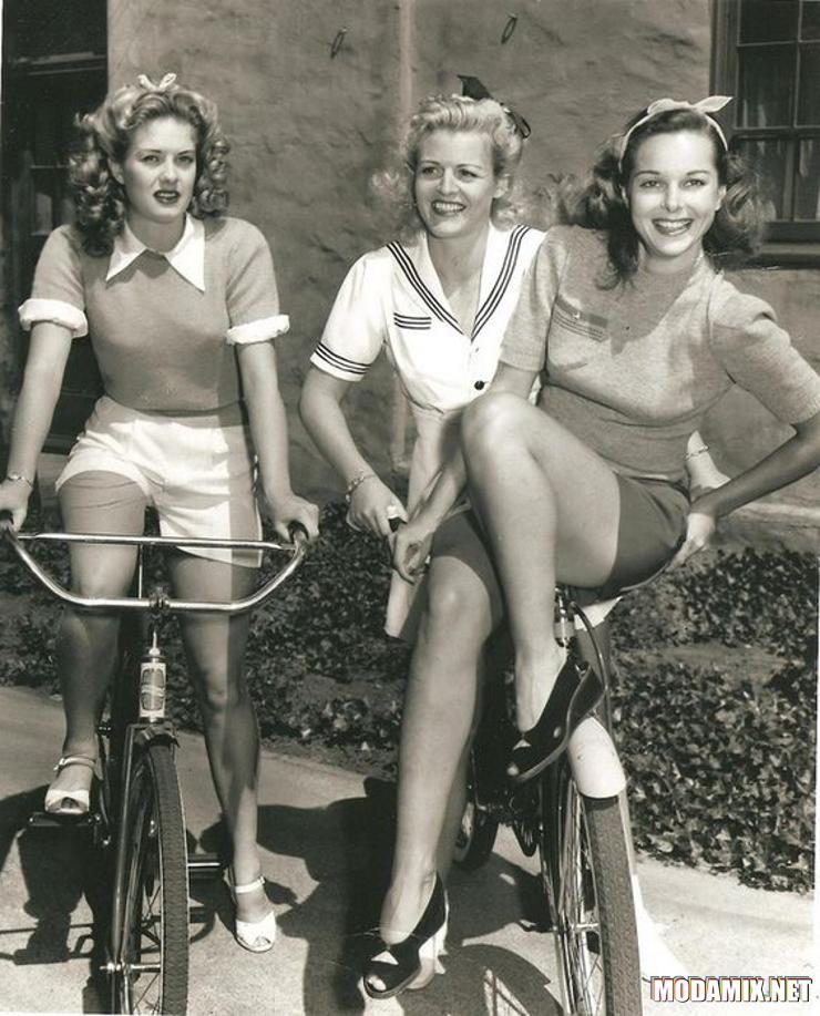 Спортивный стиль в женской одежде 40-х