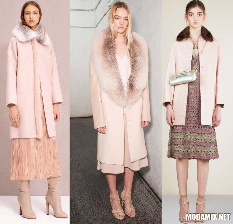Женское пальто 2017 весна в меху