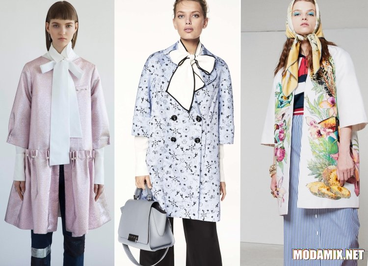 Укороченные расклешенные пальто на весну 2017