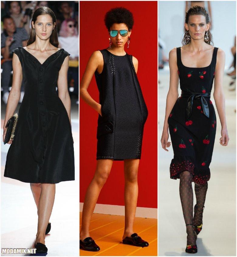 Черные платья 2017 года фото
