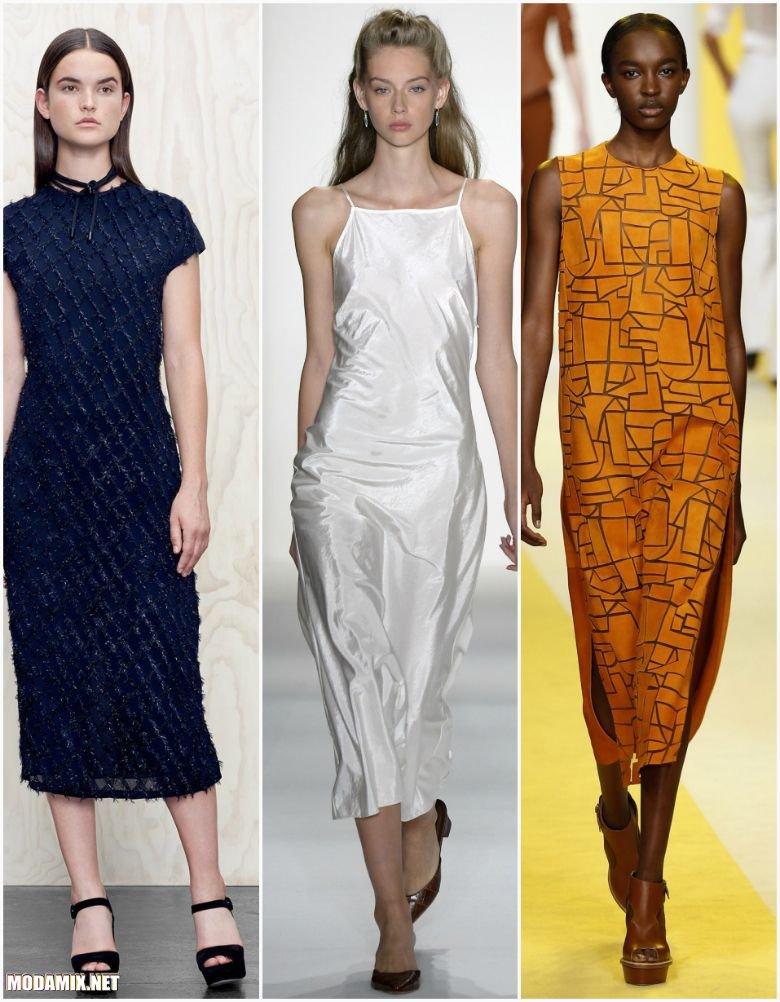 Платья миди длины на весну 2017