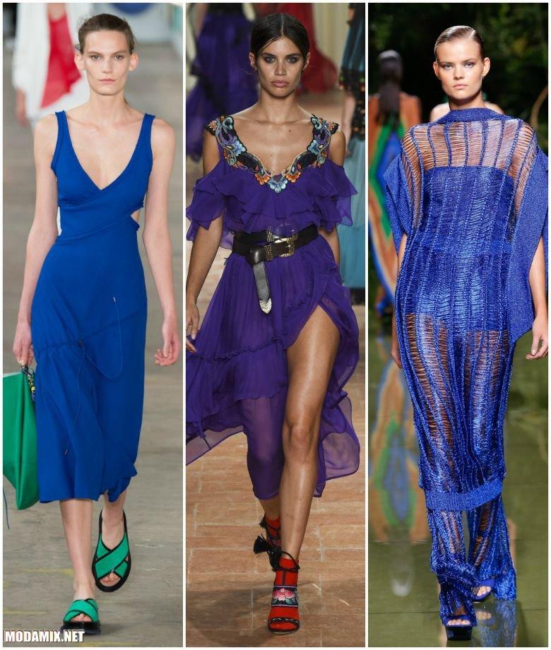 Платья синего цвета 2017 года