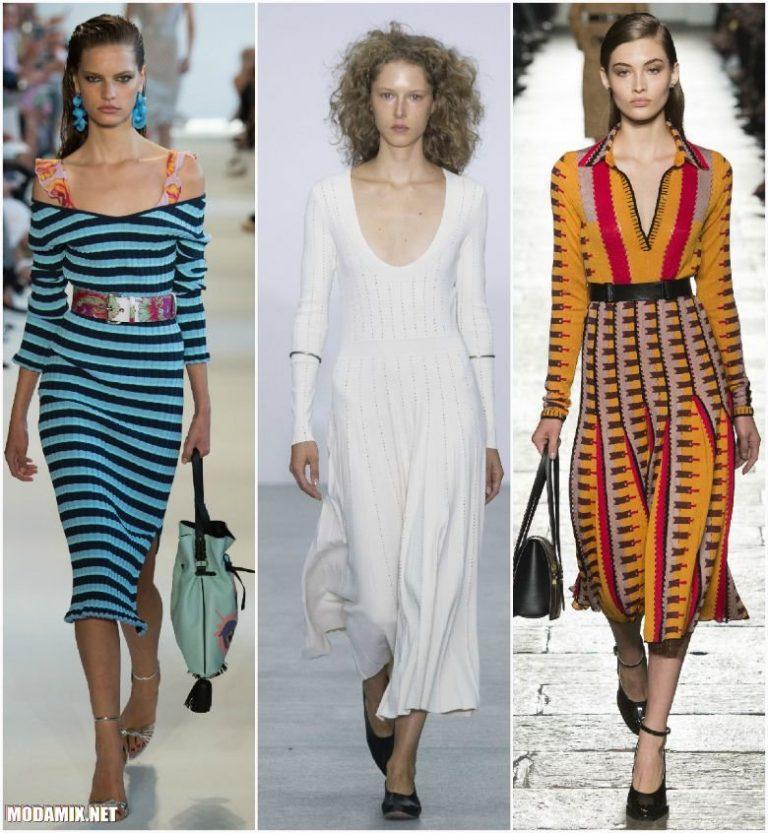Модные платья из трикотажа 2017