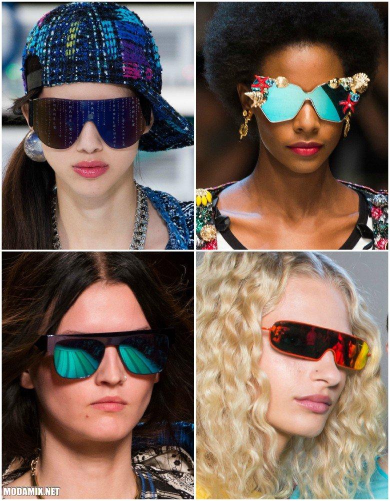 Солнцезащитные очки 2017 с зеркальными стеклами