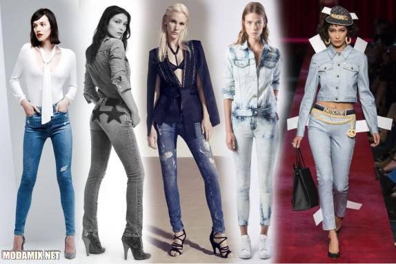Модные джинсы скинни на весну 2017