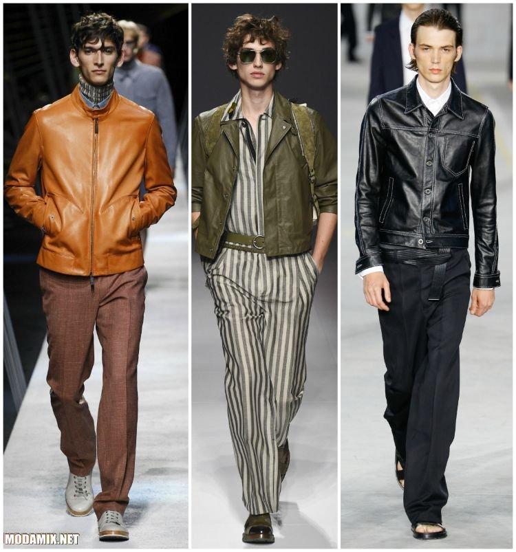 Кожаные мужские куртки 2017