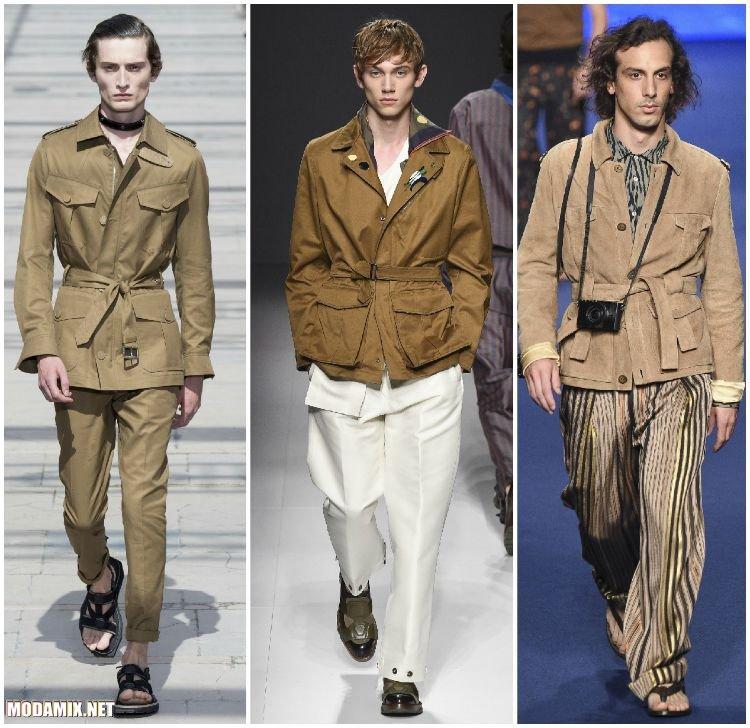 Мужские куртки в стиле сафари