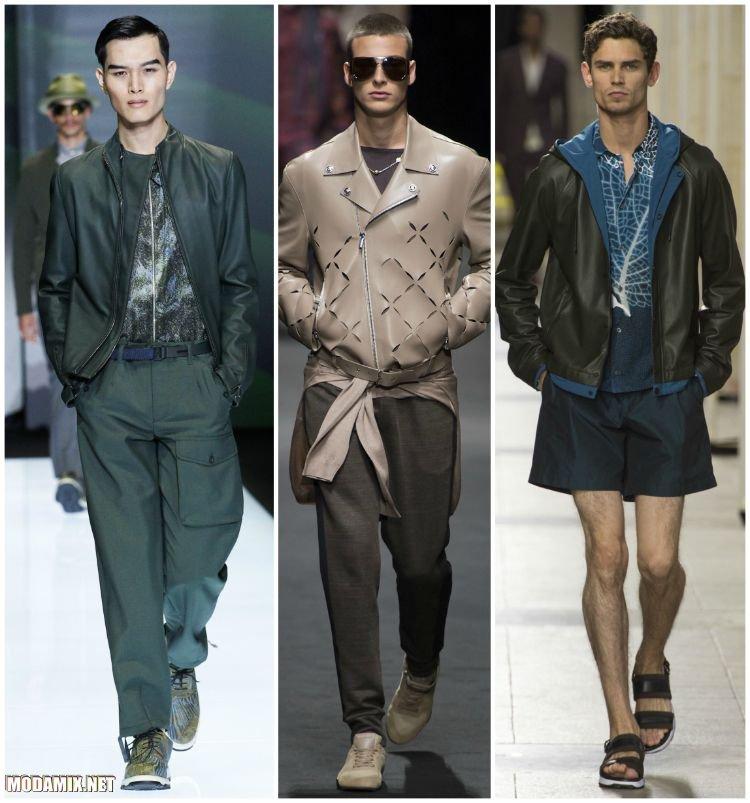 Мужские куртки из кожи
