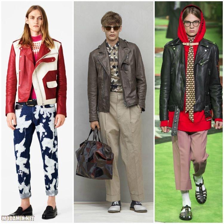 Мужские куртки косухи