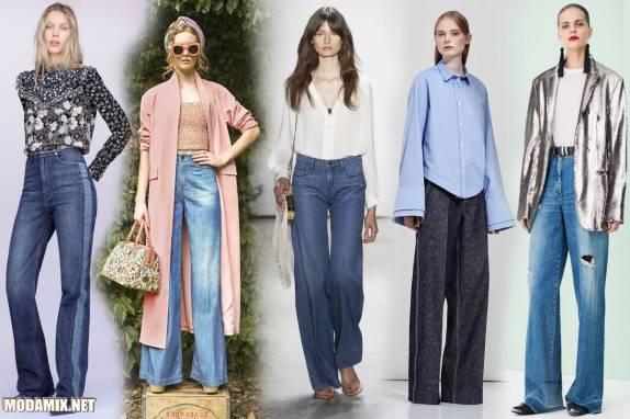 Фото модных джинс на весну 2017