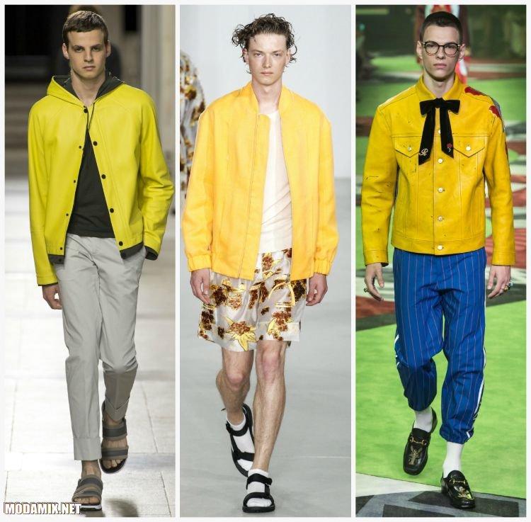 Желтые куртки для мужчин