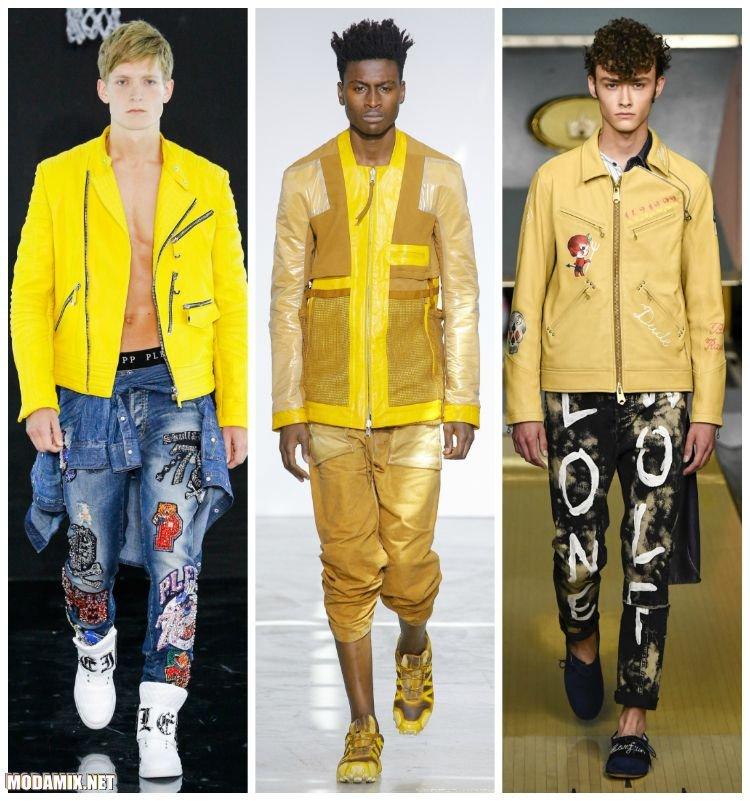 Желтые куртки в коллекциях мужской одежды 2017 года