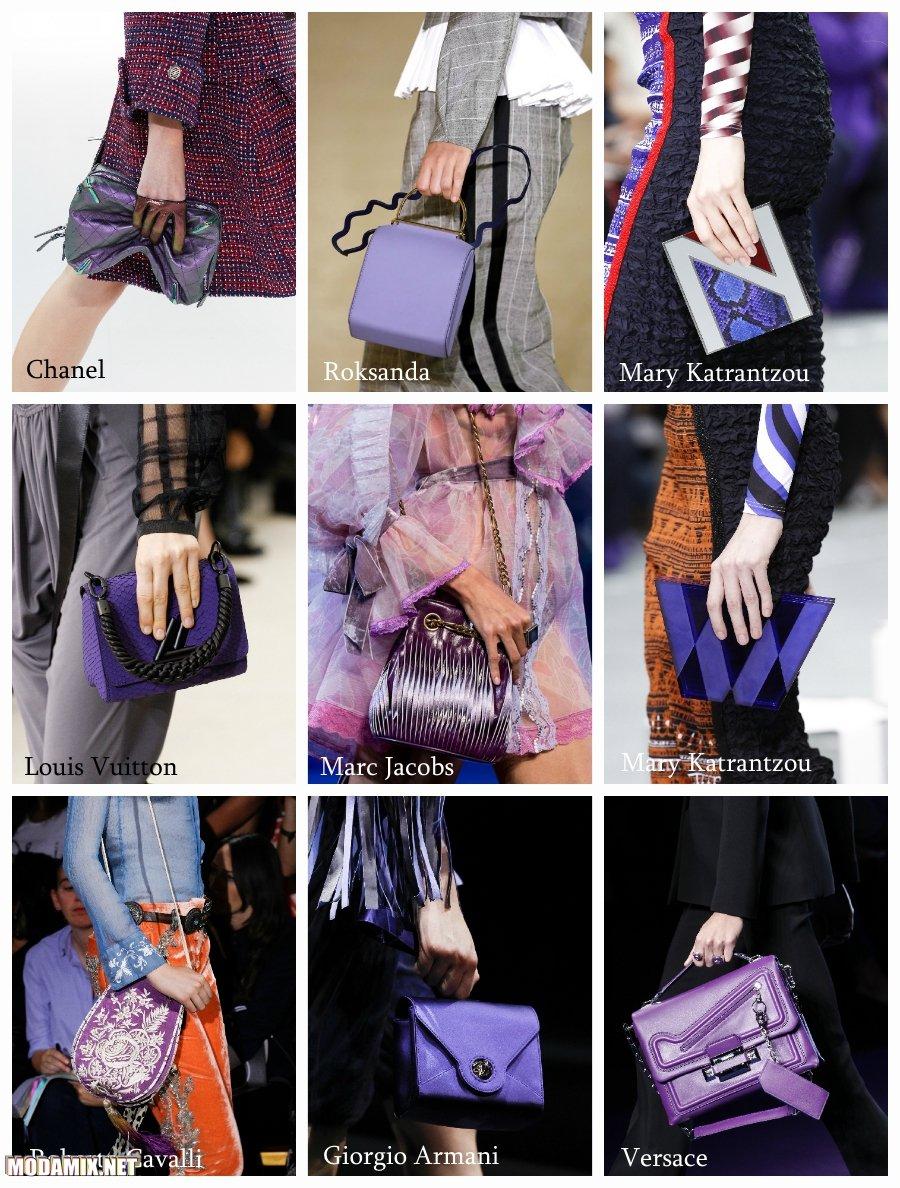Фиолетовый цвет сумок 2017 года