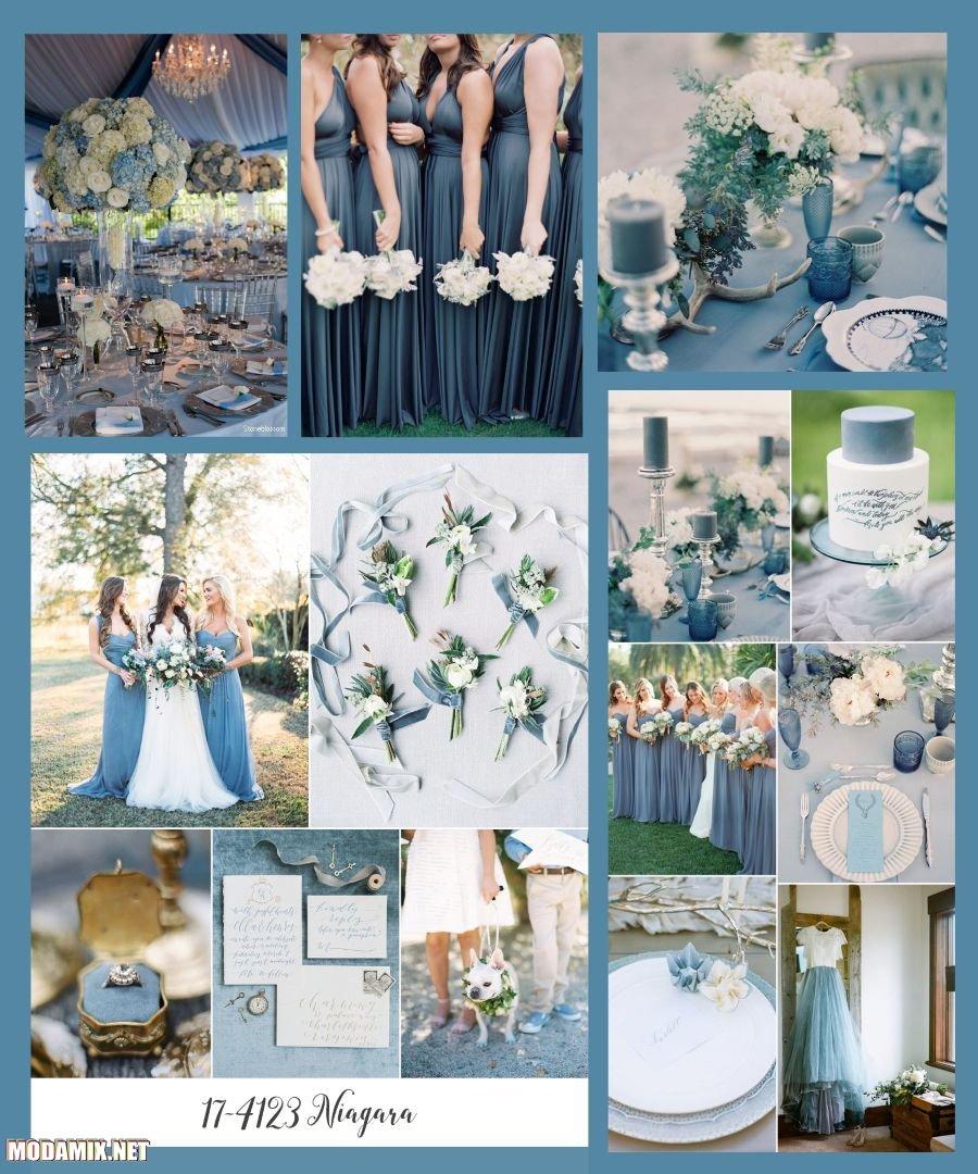 Фото свадьбы в цвете Ниагара
