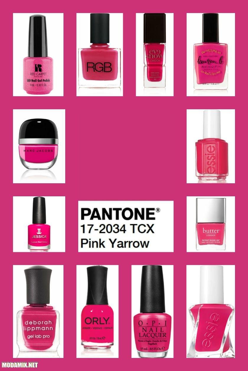 Фото розового лака для ногтей