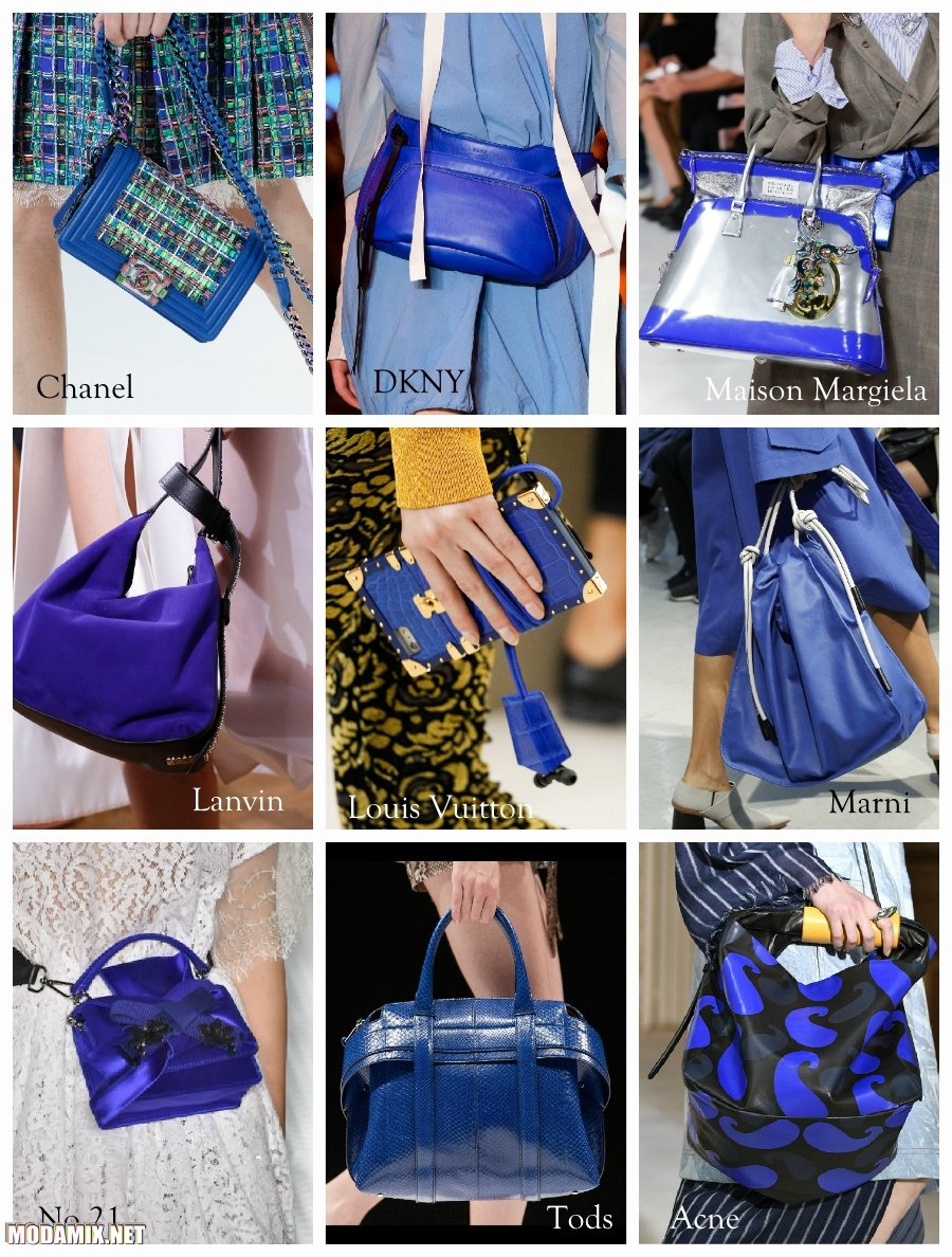 Синий цвет сумок 2017 года