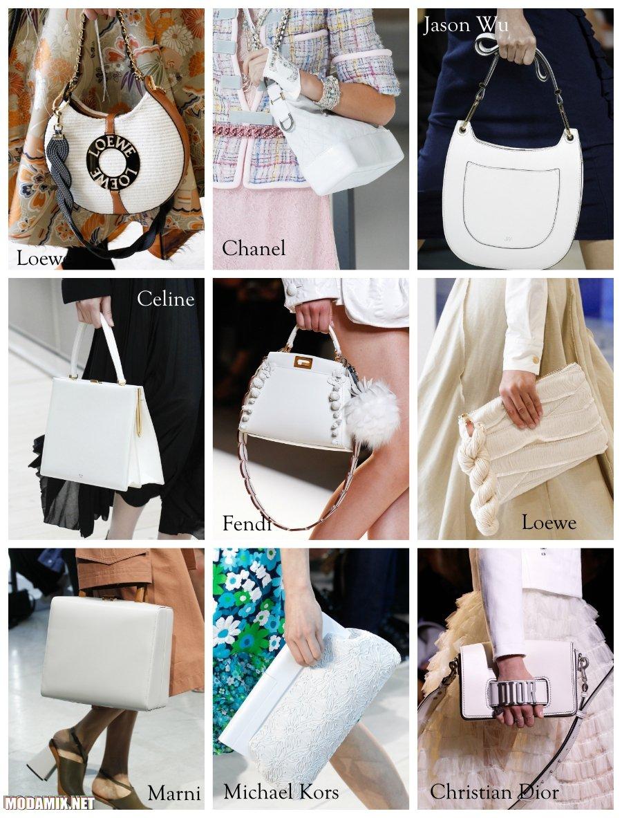 Белый цвет сумок 2017 года