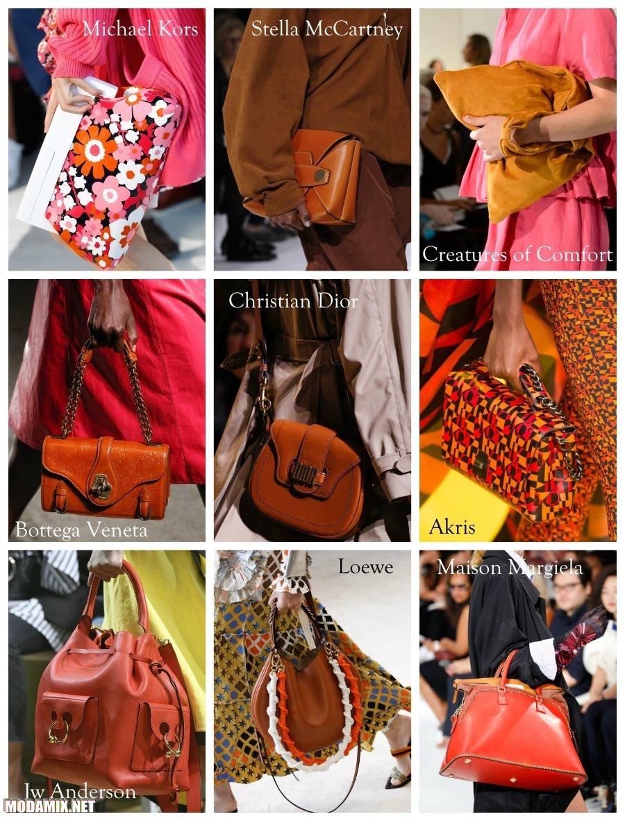 Рыжий цвет сумок 2017 года