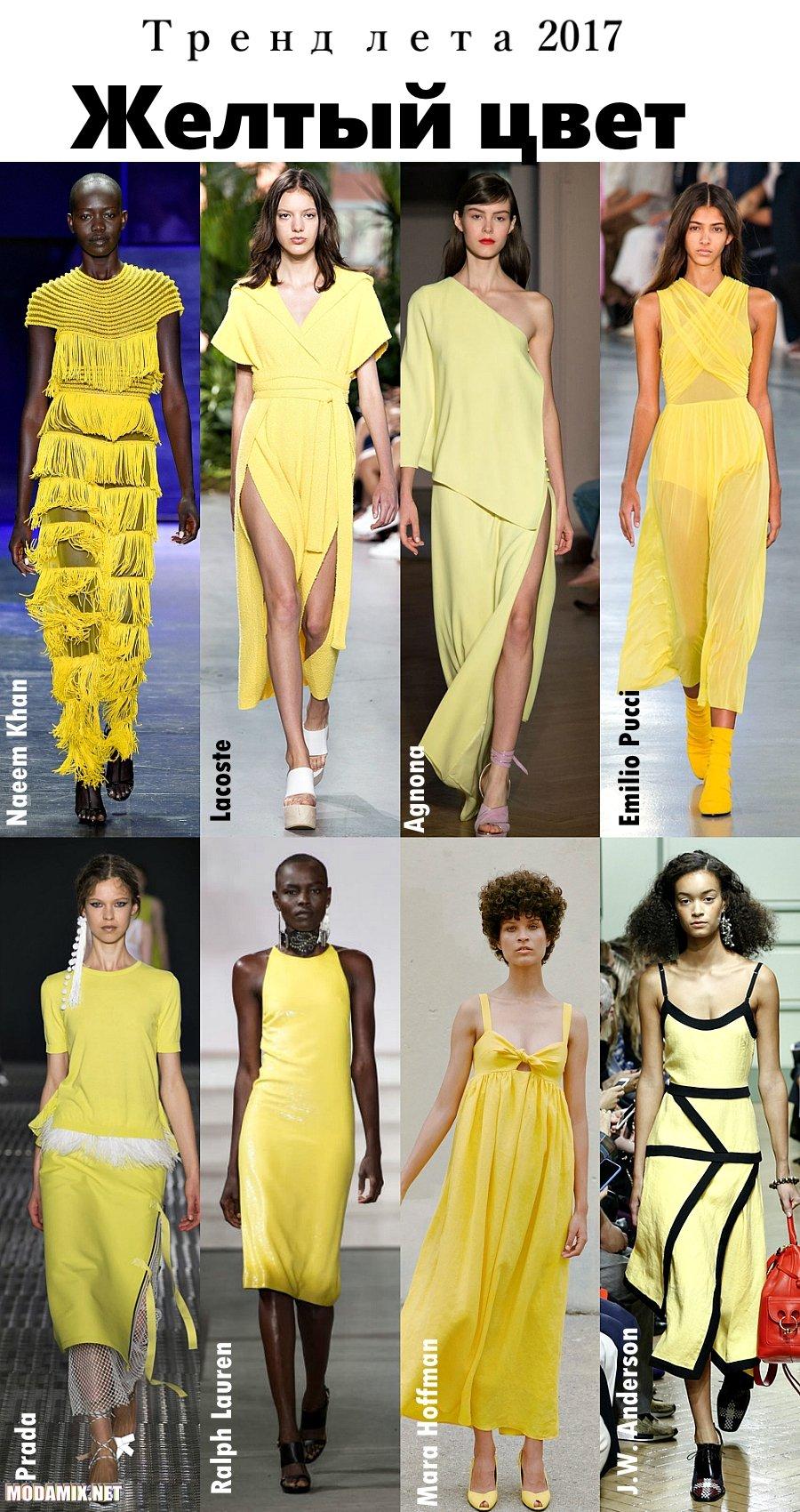 Что модно летом 2017 - желтый