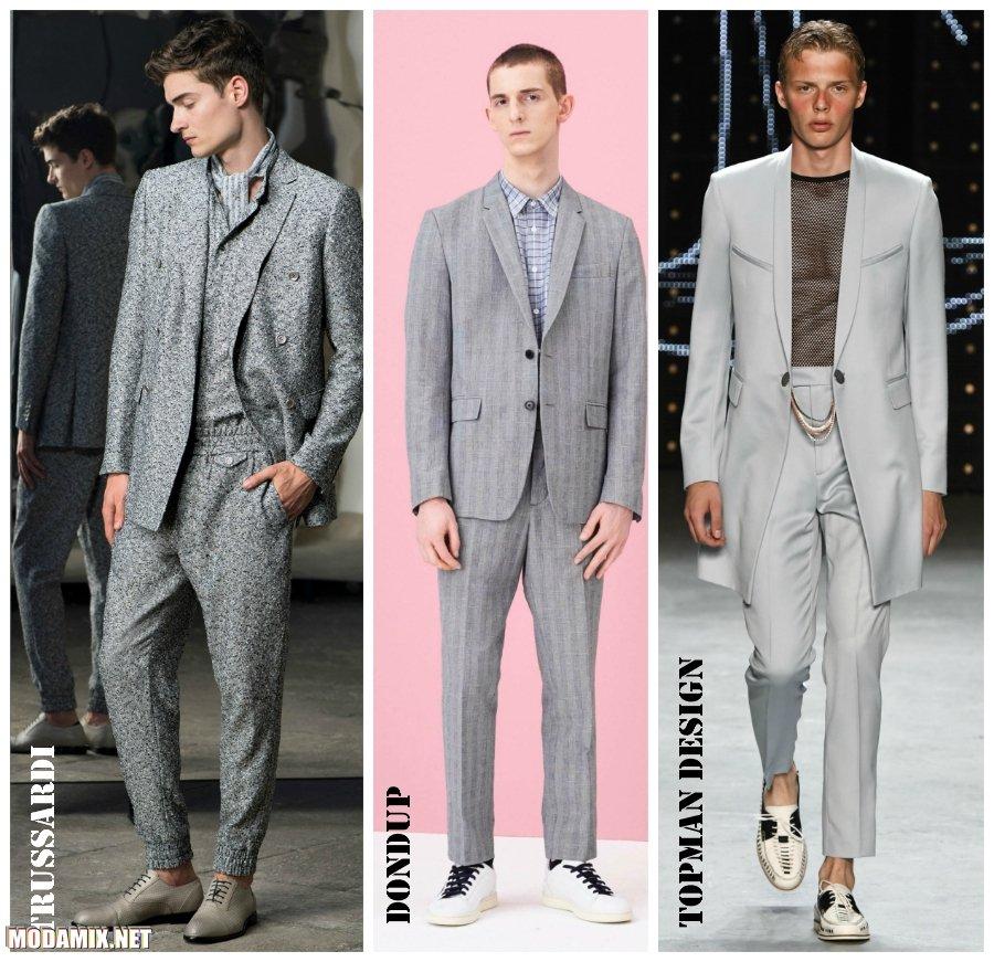 Модные мужские костюмы 2017 фото серых моделей