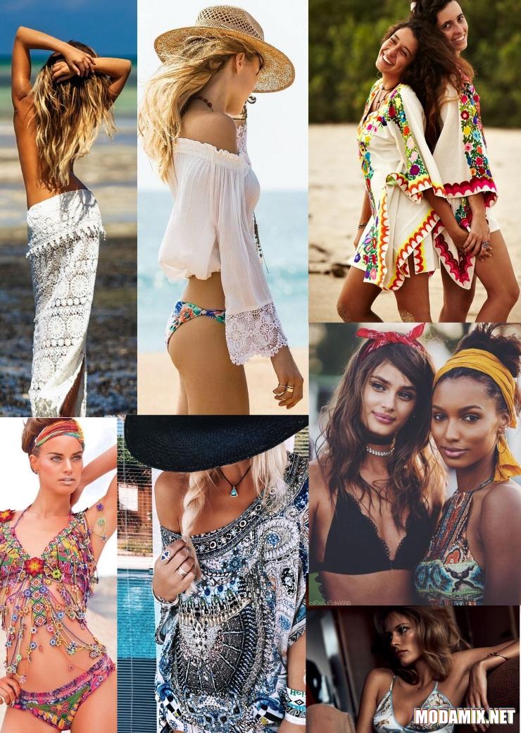 Пляжный стиль хиппи для девушек