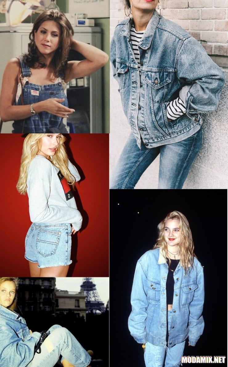 Стиль 90-х в джинсовой моде