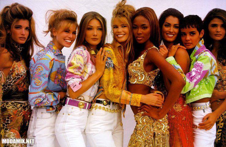 Имидж топ-моделей в 90-х годах