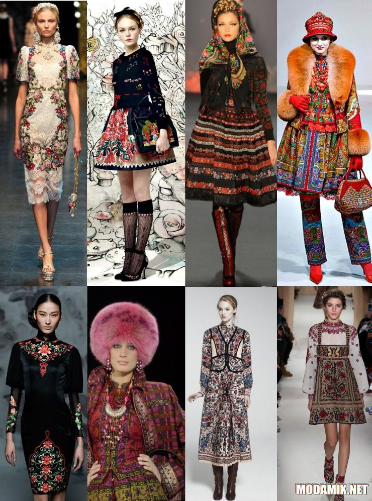 Русский стиль одежды на подиуме