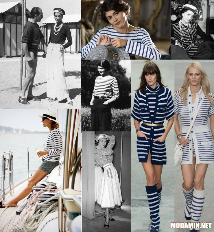 Коко Шанель в одежде морского стиля