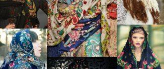 Женские платки в русском стиле