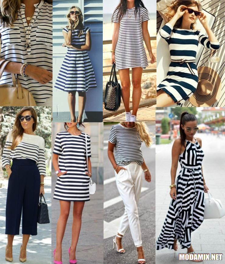 Одежда в полоску - как основной признак морского стиля