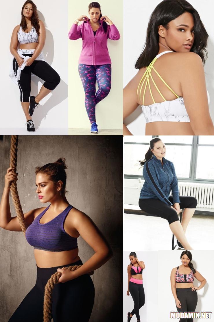Одежда в спортивном стиле для полных