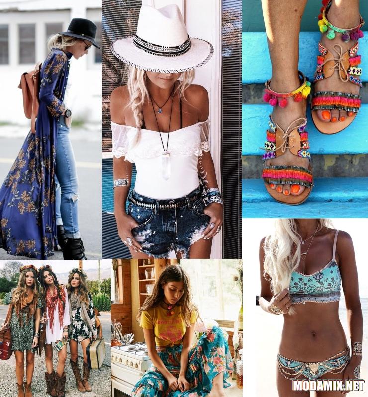 Одежда и аксессуары в стиле хиппи