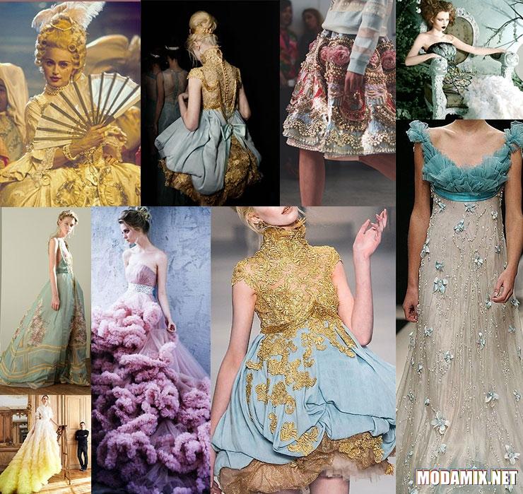 Стиль Рококо в одежде современых дизайнеров