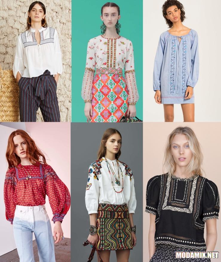 Блуза в славянском стиле