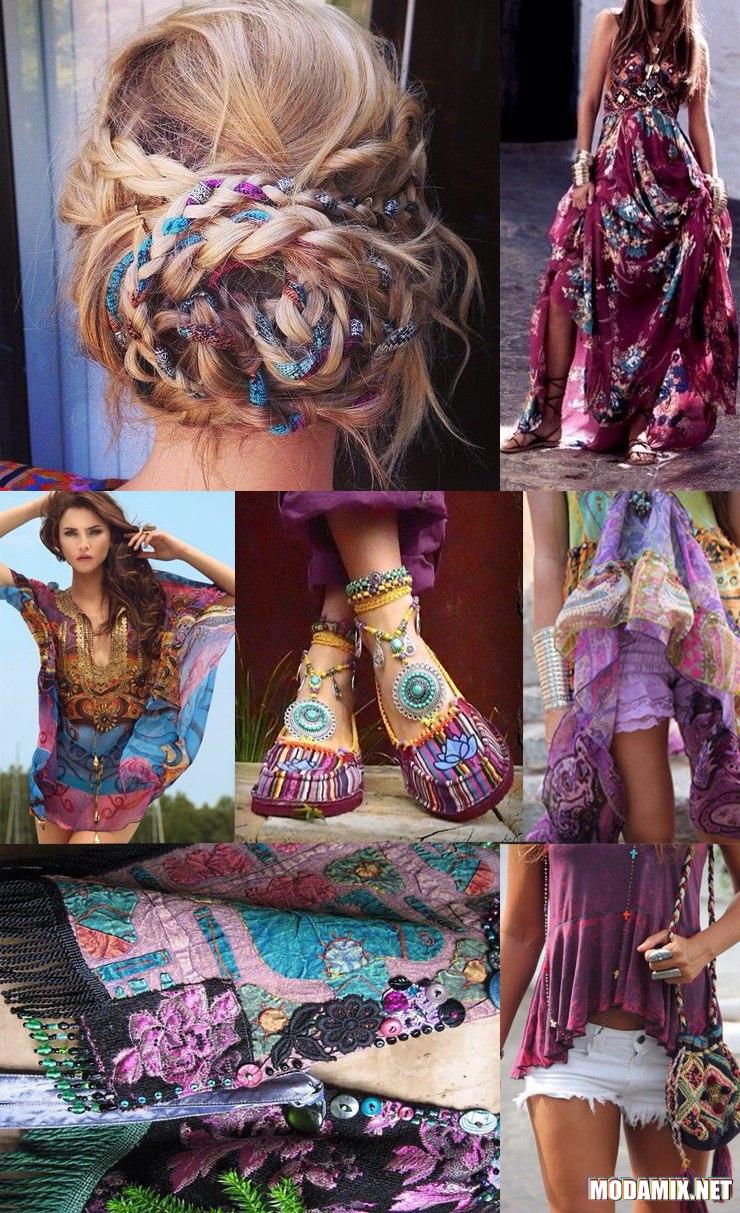 Бохо стиль в женской одежде