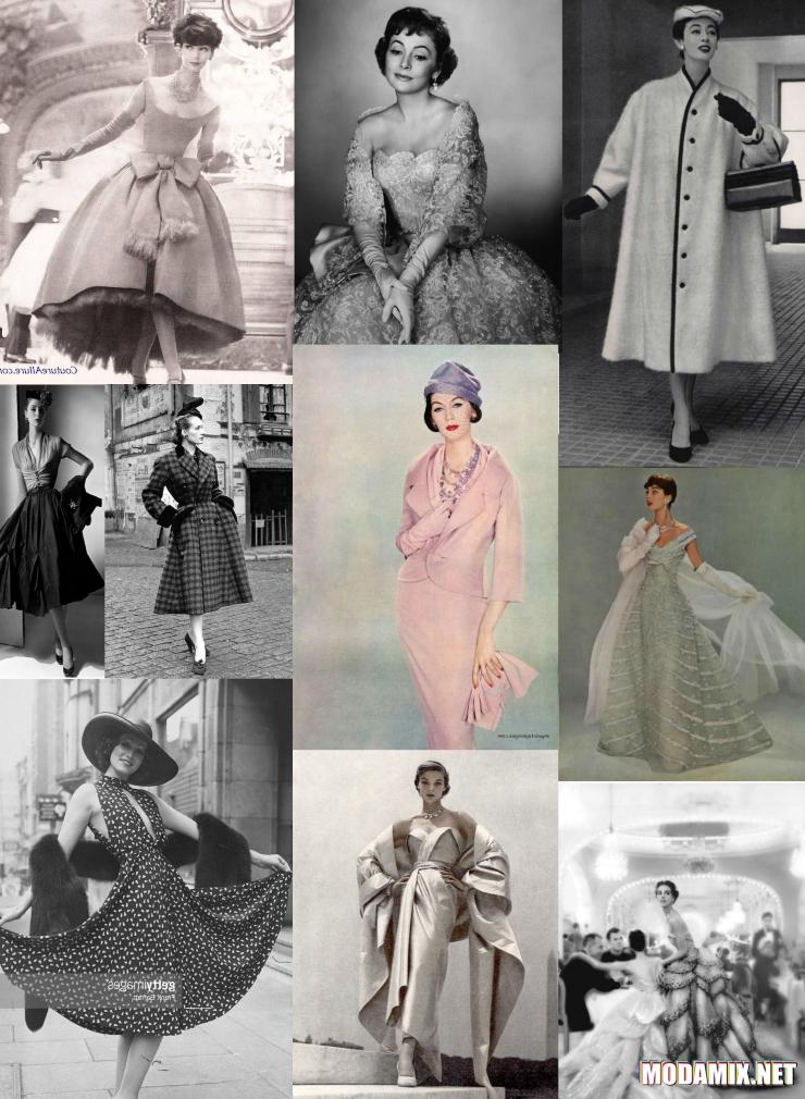 Коллекции Christian Dior 50-х годов