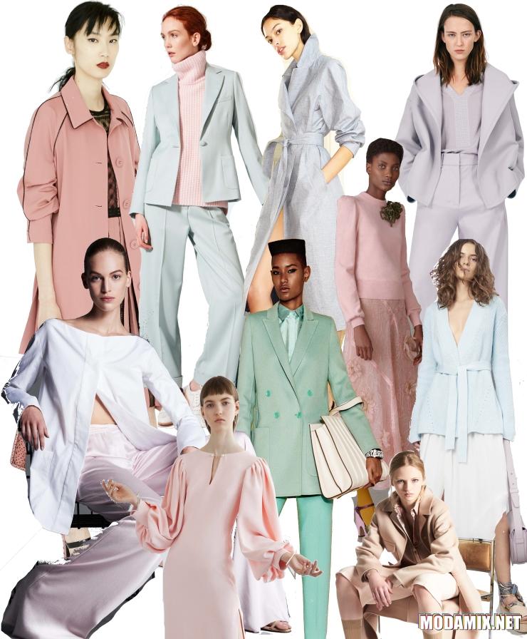 Пастельная гамма в моде весной 2017 года