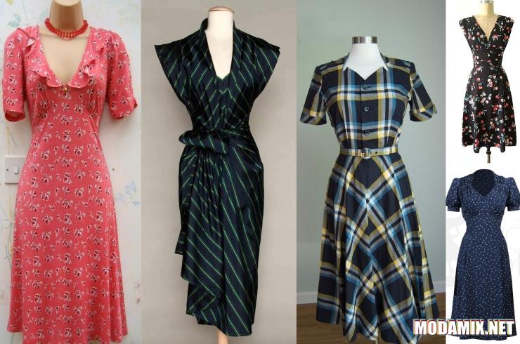Модные принты 1940-х годов