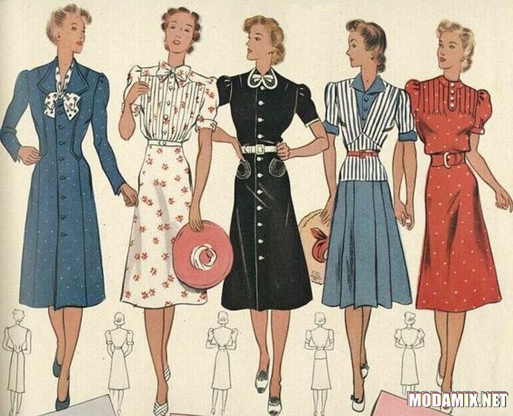 ca902dc18d4 Стиль одежды 40-х годов фото модной одежды и история моды – Блог о ...