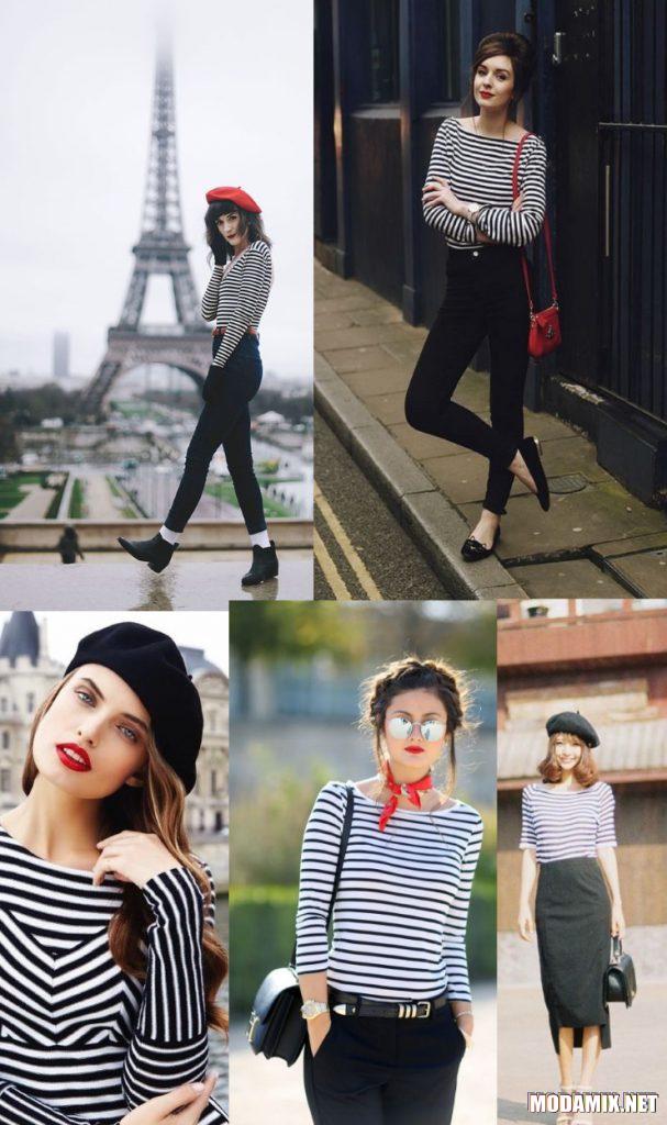 Полоска - аттрибут французского стиля