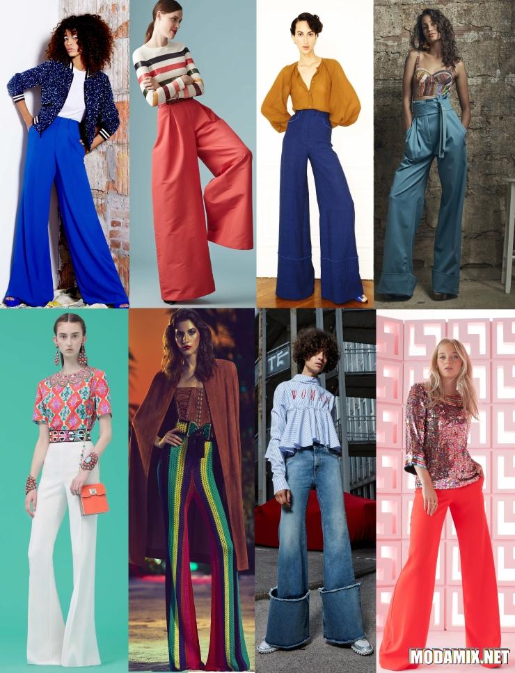 Расклешенные брюки в ретро стиле