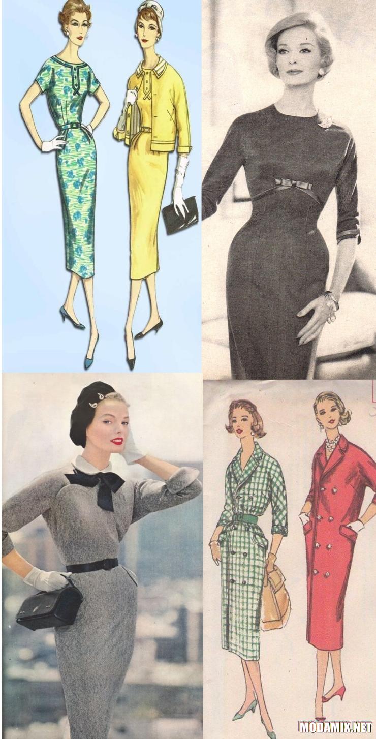 Платья с узким низом в стиле 50-х