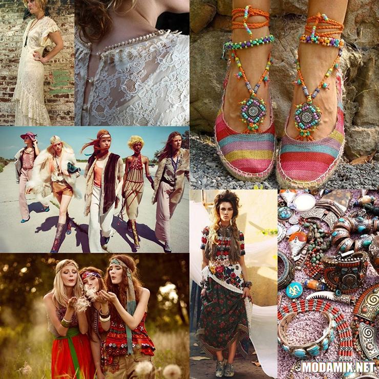 Бохо стиль в обуви и одежде