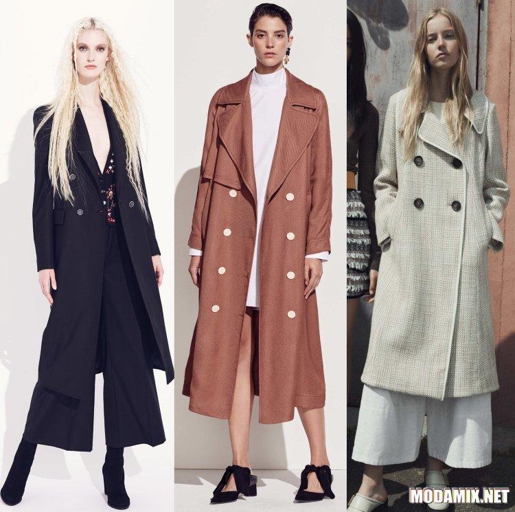 Весенние двубортные пальто 2017 года